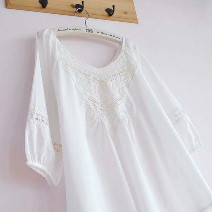 White Maternity Shirt..Love it