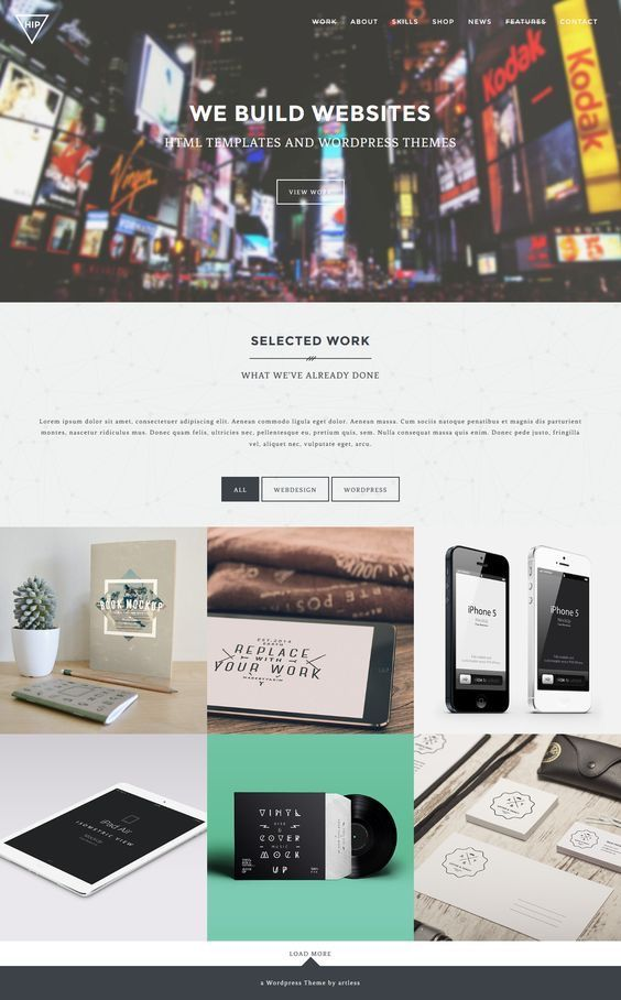 Hip - Creative OnePage / MultiPage Wordpress Theme. Download: http://themeforest.net/item/hip-creative-onepage-multipage-wordpress-theme/10088033?ref=skarin