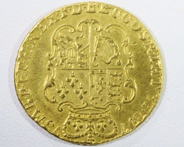 1773 GUINEA 3 Rd HEAD  GOLD COIN CO 952 gold coin uk, england gold coins,Guinea 1773