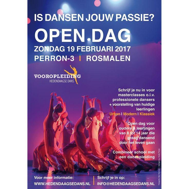A3 poster Open Dag Vooropleiding Hedendaagse Dans | Studio Plume
