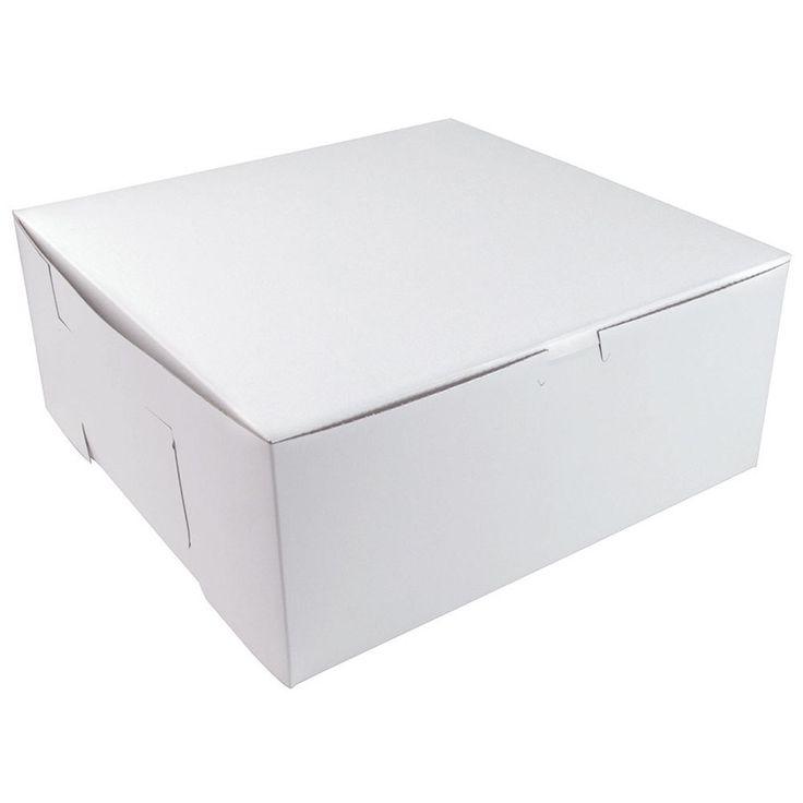 12 x 12 x 5 white cake bakery box 100bundle box