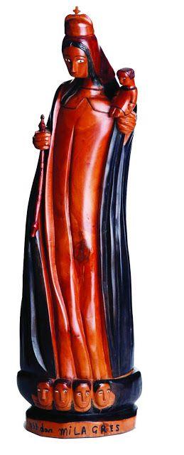 Bento de Sumé, Nossa Senhora dos Milagres, madeira. Reproduçao fotográfica Galeria Pontes, Sao Paulo-SP (www.galeriapontes.com.br).