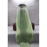 Kvinder+Syntetiske+parykker+Blonde+Forside+Rett+Grønn+Naturlig+hårlinje+Naturlig+parykk+Halloween+parykk+Karneval+Parykk+costume+Parykker+–+NOK+kr.+520