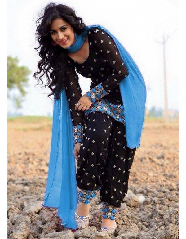 Beautiful Black #Patiala #Suit