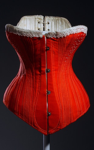 Corset, ca. 1880. Museum at FIT