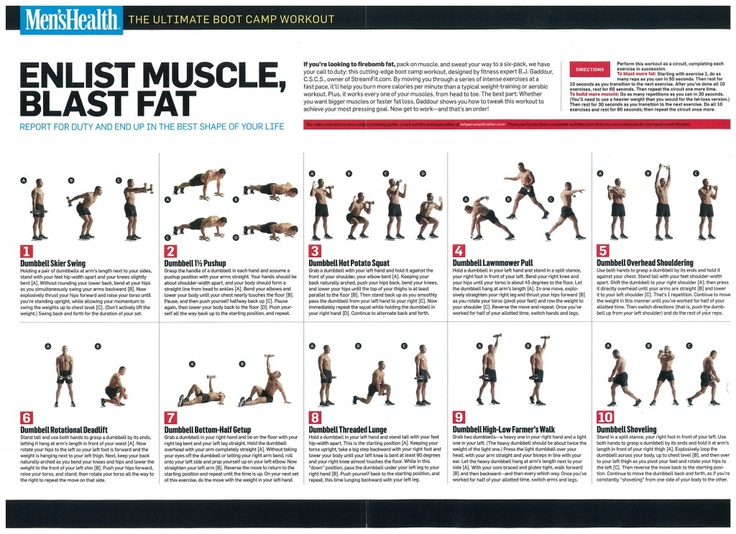 Enlist Muscle Blast Fat Boot Camp Workout From Men S Health Mag
