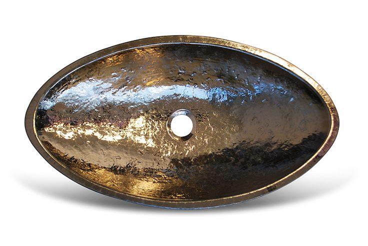 handmade glazed washbasins - gold