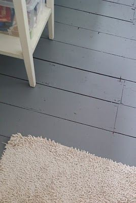 Grey painted floorboards - love!!!!