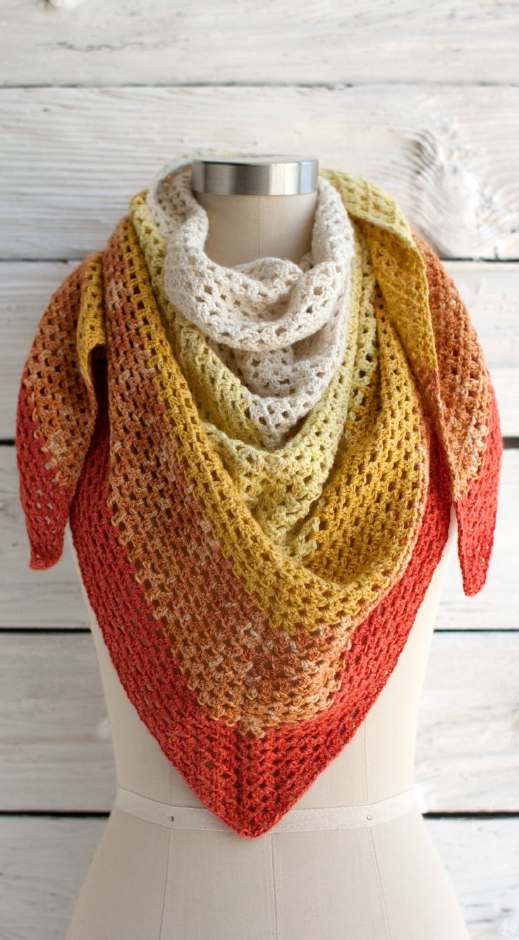 We can't wait to start an Augusta Shawl now that Manos del Uruguay Serena yarn is available. #crochet #freepattern
