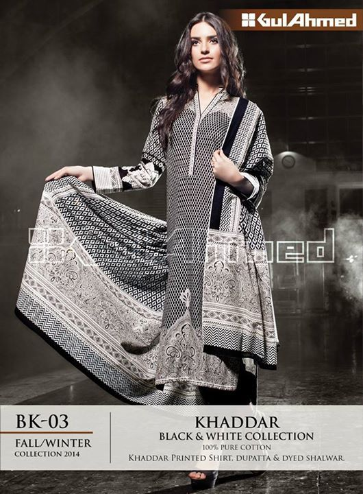 Gul Ahmed Latest Fall Winter Dresses Collection 2015 For Women | BestStylo.com