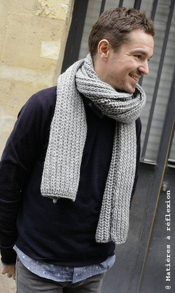 Bien au chaud // Men's grey wool scarf Coatpeople #scarf #men #accessories @ Matières à réflexion