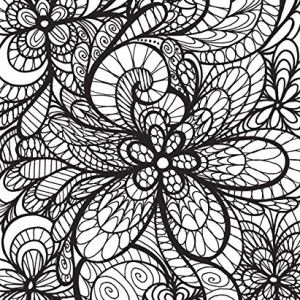 ColorIt Adult Coloring Book Colorful Flowers Volume 1 Art Therapy