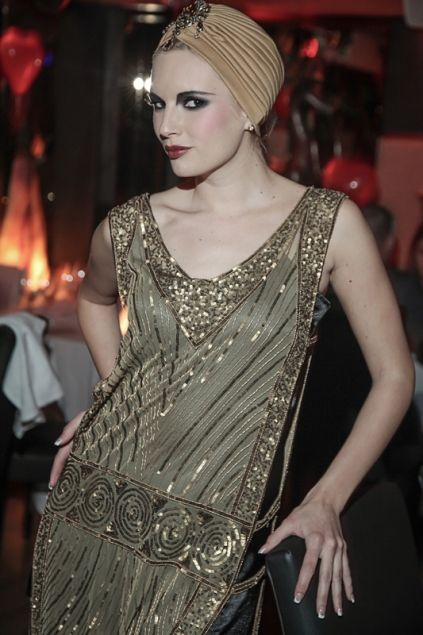 The Continental Beaded Flapper Gatsby Tabard Gown By Deco Haus Hollywood