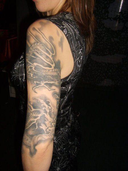 Arm Tattoos Designs for Girls: Dragon Arm Tattoos For Girls ~ Tattoo Design Inspiration