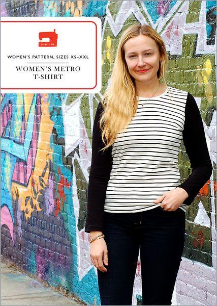 digital women's metro t-shirt sewing pattern
