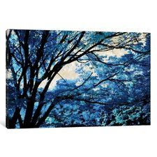 'Blue Forest III' Graphic Art Print on Canvas