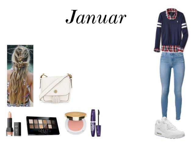 """Januar style"" by camillaknudsen on Polyvore featuring U.S. Polo Assn., NIKE, NYX, Maybelline, Isaac Mizrahi, Rimmel and Tory Burch"