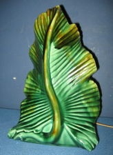 Vintage 1950's Green Leaf TV Lamp, Phil Mar, Works, No Reserve