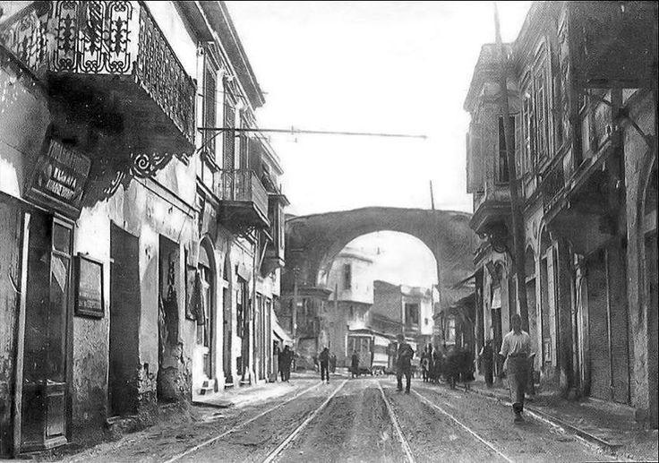 Θεσσαλονίκη 1916...η οδός Εγνατία και η Καμάρα στο βάθος...
