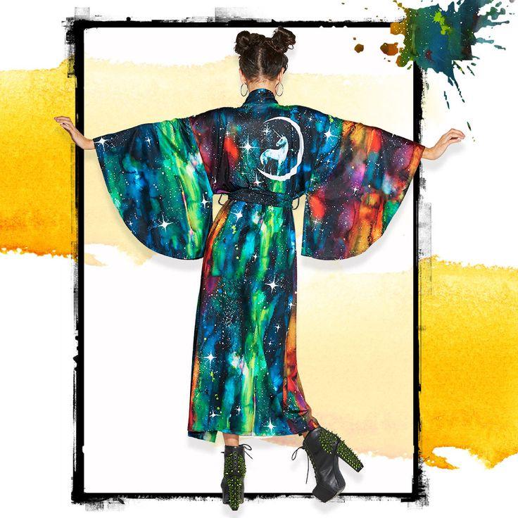 Unicorn Moon Swan Kimono - LIMITED ($170AUD) by BlackMilk Clothing