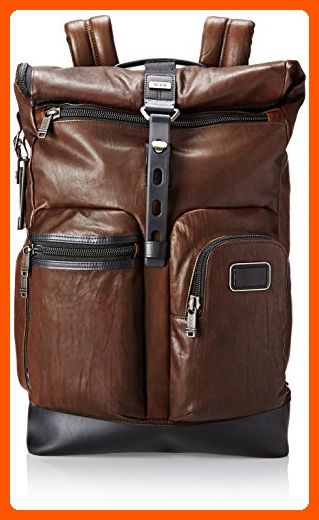 Tumi Alpha Bravo Luke Leather Roll-Top Backpack, Dark Brown, One Size - Dont forget to travel (*Amazon Partner-Link)