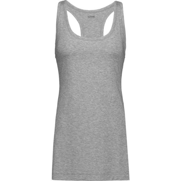 Yummie by Heather Thomson Karolina slub stretch-jersey tank featuring polyvore, women's fashion, clothing, tops, anthracite, loose tops, loose fitting tanks, loose fit tops, loose fitting tank tops and loose tanks