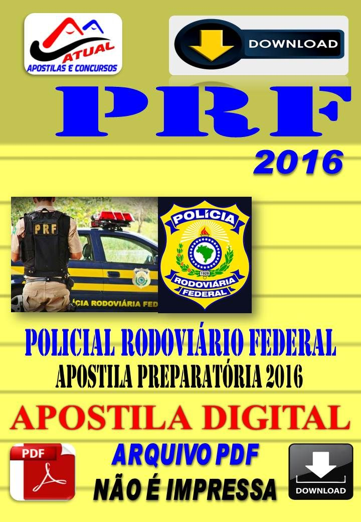 Apostila Digital Concurso PRF Policial Rodoviario Federal 2016 Preparatoria