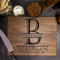 Classic Monogrammed Initial Personalized Cutting Board