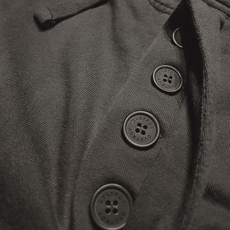 "DYSTROY Jog Pants ""Lightning"" Logo Button https://www.dystroy.com/Pants/Jog-Pants-LIGHTNING.html"