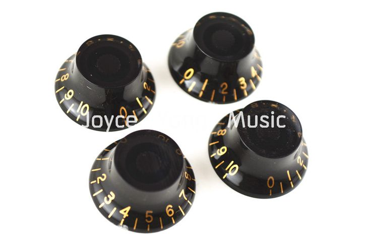 Niko 1 Set of 4pcs Black Hat Golden Font Electric Guitar Knobs For SG Style Electric Guitar Free Shipping Wholesales #Affiliate