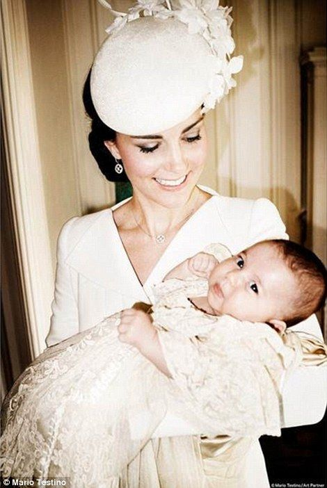 July 9, 2015 Official photographs of the christening of Princess Charlotte of Cambridge. Photographer Mario Testino