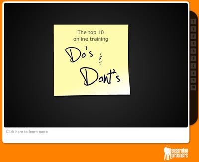 Ten Online Training Do's and Don'ts
