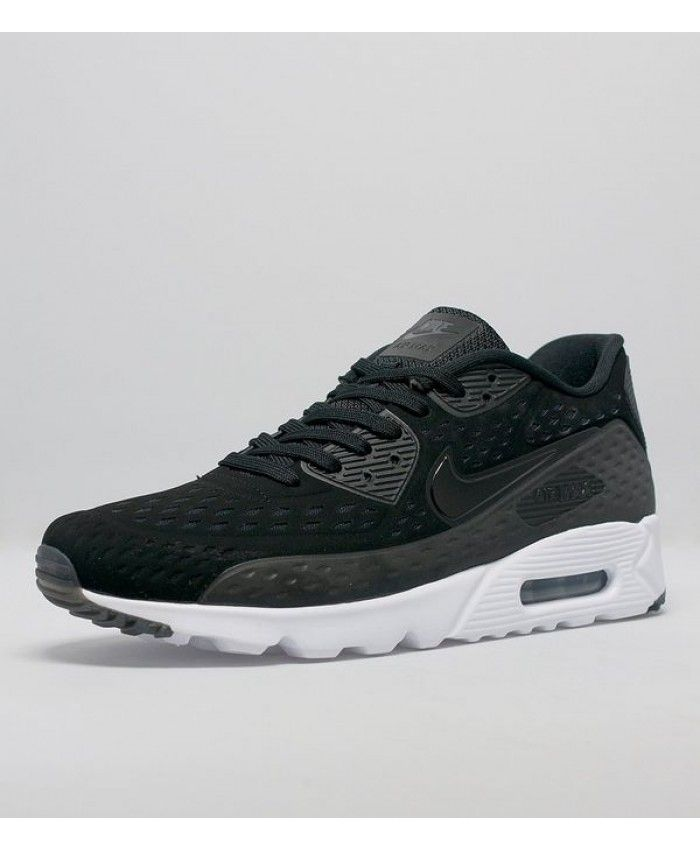 the latest 78a3e aee48 Nike Air Max 90 Ultra Breathe Black And White Shoes Sale