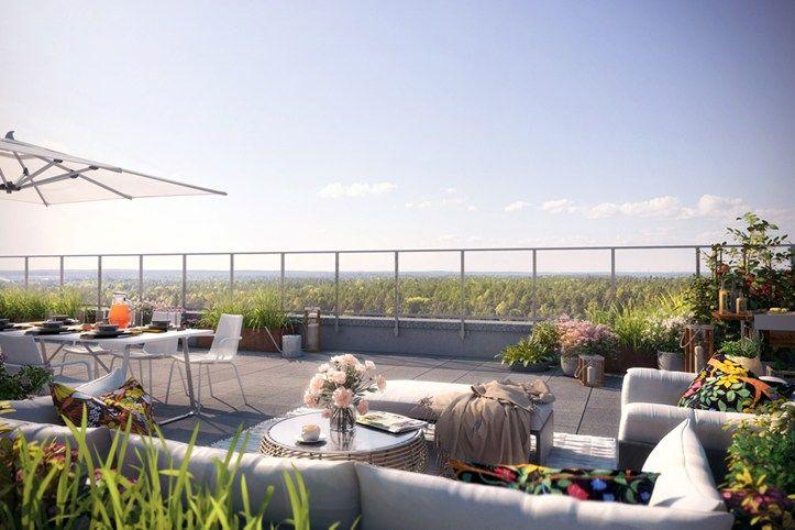 Rooftop terrace in Brf Blicken in Haninge.