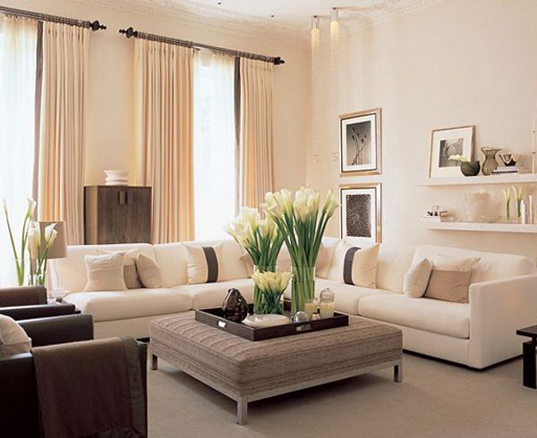 living room - Neutral Living Room Design