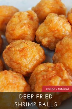 The Best Deep Fried Shrimp Balls Recipe | Learn to make Deep Fried Shrimp Balls with our recipe and step-by-step tutorial at DimSumCentral.com.