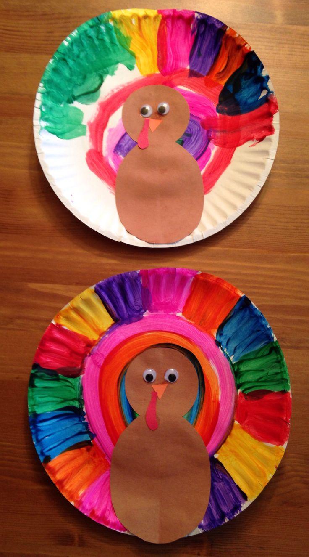 Paper Plate Turkey Craft - Thanksgiving Craft - Preschool Craft