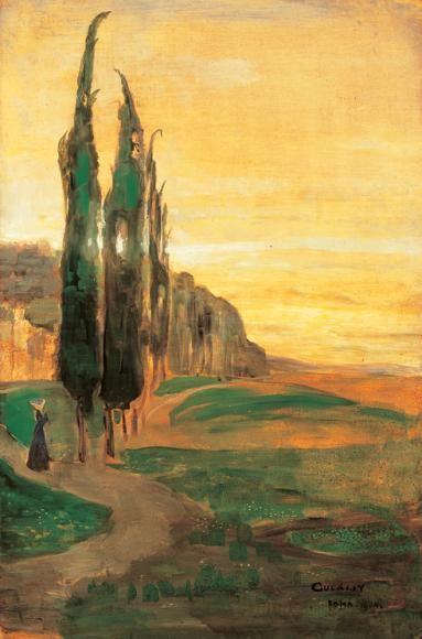 Italian Landscape, Gulácsy Lajos. Hungarian (1882 - 1932)