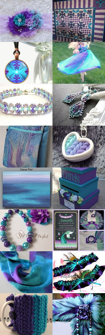 The Beauty of purple and teal mixed together by Dawn Zipper on Etsy--Pinned with TreasuryPin.com