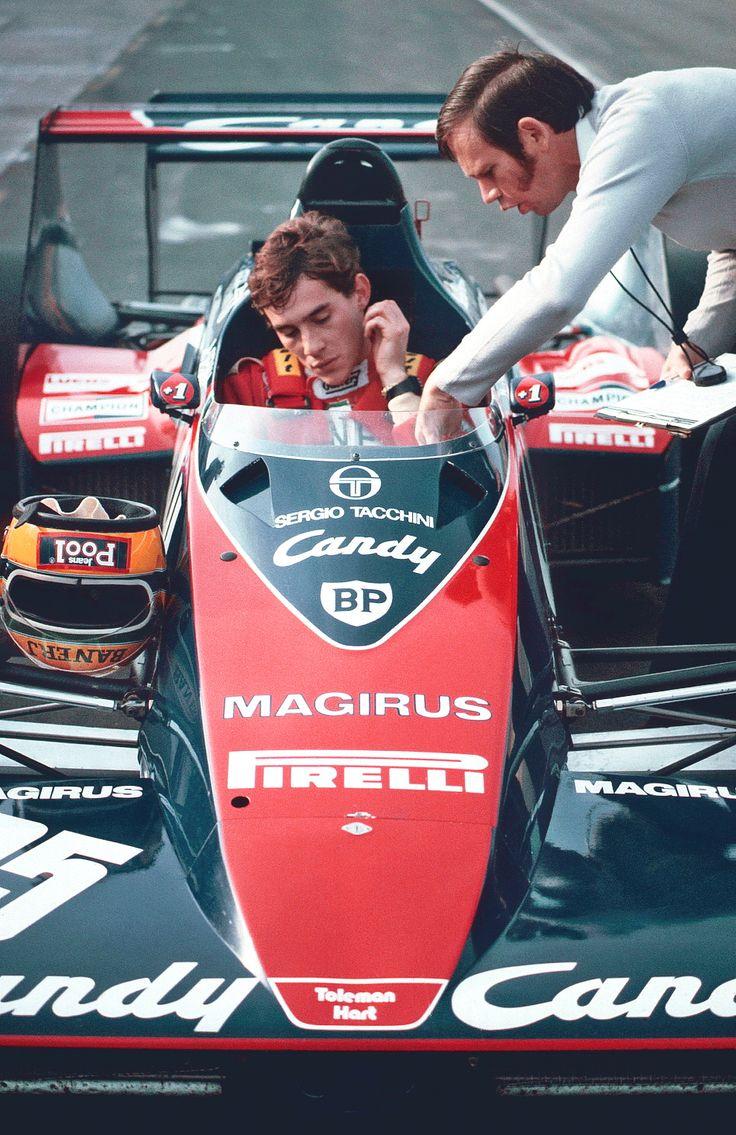 """""""Ele é o cara, ele é brilhante"""". Rory Byrne, projetista-chefe da Toleman, logo após teste de Ayrton Senna que seria contratado pela pequena equipe da F1."""