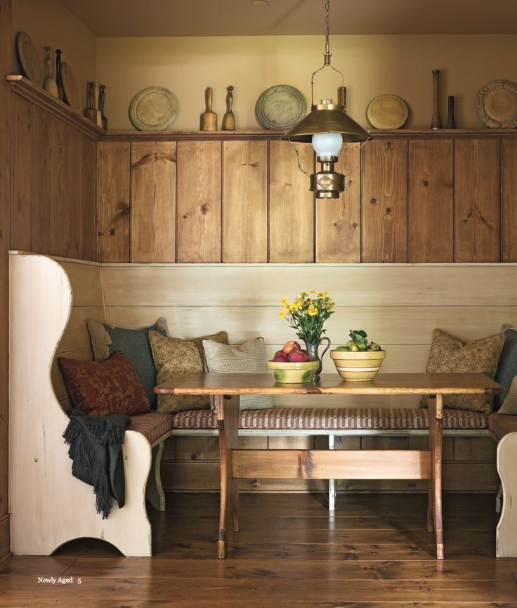 Breakfast Nook Bench Seating Family Dining Country