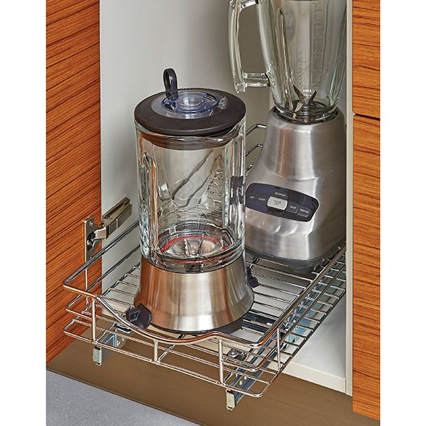 Use our sturdy Chrome Pull-Out Cabinet Drawers to make the contents of your kitchen or bathroom cabinet easily accessible.  Once installed at the base of the cabinet, the drawers pull out smoothly to provide visibility and quick access to stored items.  Installation of the pre-assembled drawers is quick and easy.