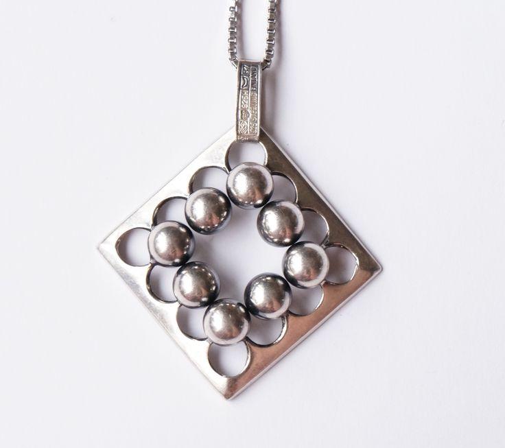 Erik Granit, vintage silver pendant. #Finland   MJ Retro