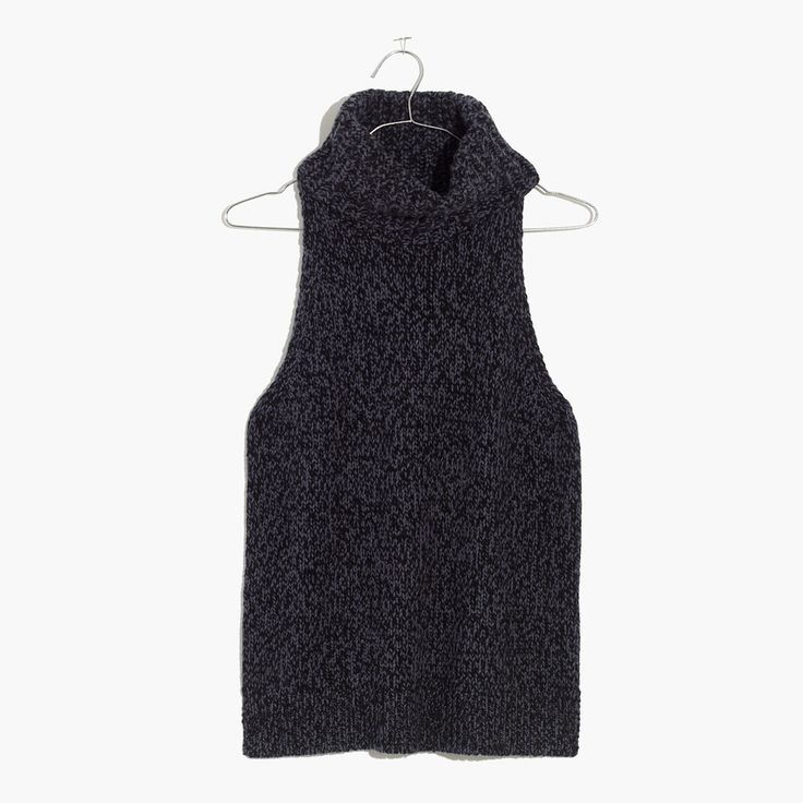 Madewell Womens Turtleneck Cutaway Sweater-Vest