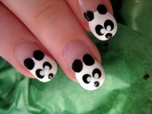 25 unique panda nail art ideas on pinterest clean nails panda kids nail art pandas for kaydee prinsesfo Choice Image