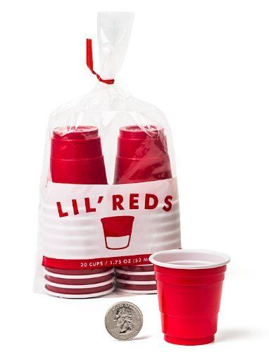 Lil' Reds Mini Solo Cup Shot Glasses - Pack of 20 Cups - Great for A Party - Perfect for Jello Shot, Regular Shots, Expert Level Beer Pong Set - Disposable Red Plastic Washable Miniature Glasses perfect for Adults and Kids - Smaller than a 3 oz - Toby Keith would Love These - Have Fun Guarantee by Lil' Reds, http://www.amazon.com/dp/B00D7KY1SW/ref=cm_sw_r_pi_dp_XU-Bsb10ASEBV