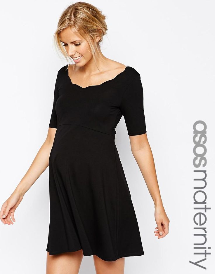 ASOS Maternity | ASOS Maternity Exclusive Scallop Skater Dress at ASOS