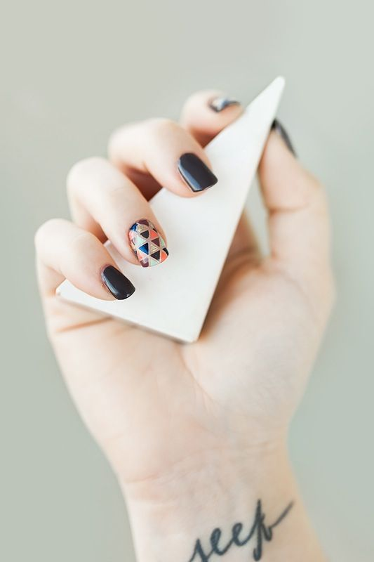 This was my inspiration for my manicure today. But I did the design on all my fingers. Took FOREVER!