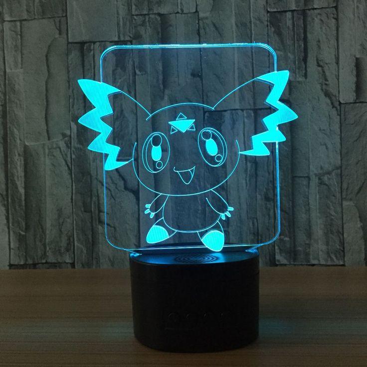 Digimon Calumon 3D Lamp The World Of Pokemon Go #LedLamp