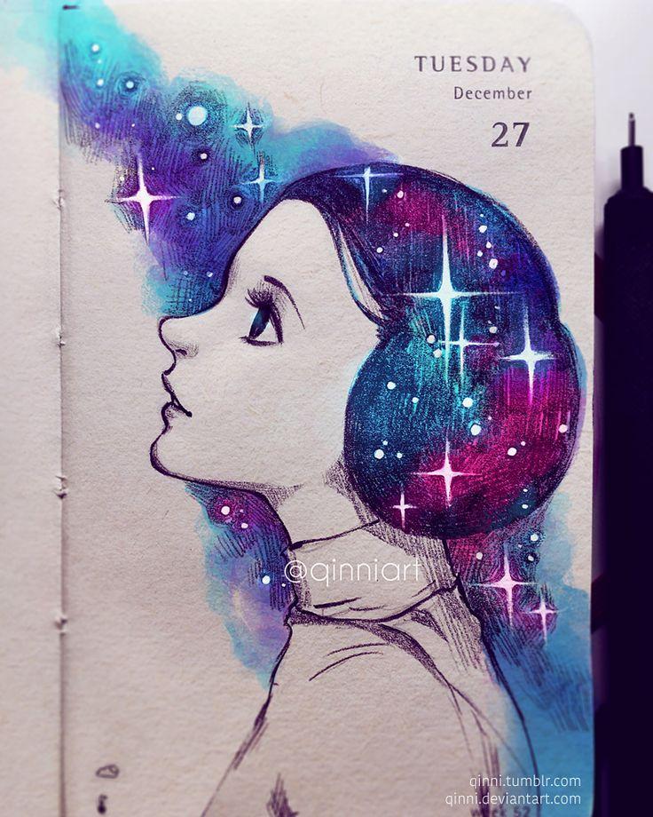 Faraway Galaxy by Qinni.deviantart.com on @DeviantArt